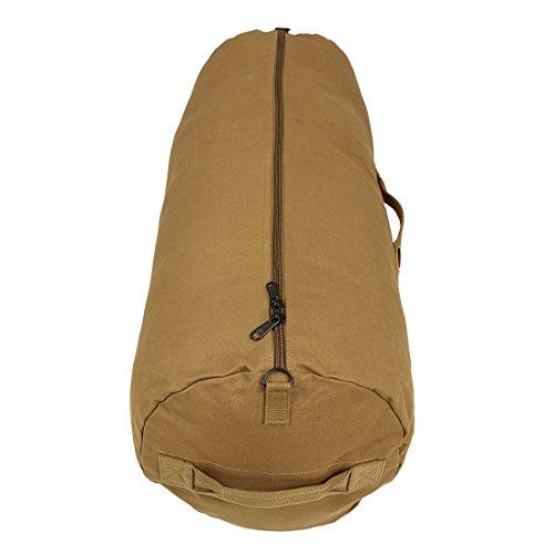 10T Outdoor Equipment RVC Duffle L - kitbag, travel bag, 105L, Cotton Canvas 625g/m², Ø 38x105 cm, fawn Sacca marinaio, 105 105 liters, Beige