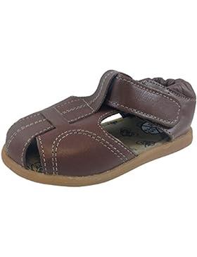 ShooShoos - Zapatitos de piel suela dura, sandalias cacahuete
