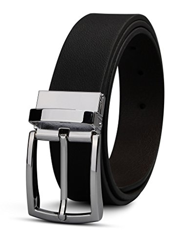 xianguo-mens-real-leather-belt-black-and-brown-reversible-belt-with-silver-pin-buckle