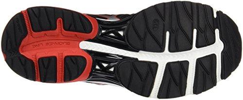 Asics T6e1n9023, Chaussures de Running Entrainement Homme Noir (Black/vermilion/silver)