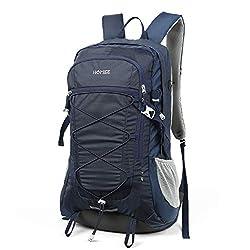 HOMIEE 45L Rucksack, Wasserdichter Wanderrucksack Trekkingrucksack Reiserucksack mit Reflexstreifen für Herren Damen, Ideal für Radfahren Reisen Klettern Outdoor Sport, Blau