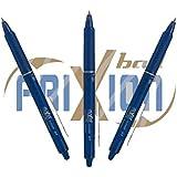 Original Pilot Tintenroller FriXion Ball Clicker 0,7 3er Sparpack 3 Stück Tintenschreiber original FriXion von Pilot Pen (blauschwarz)