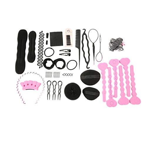 23Stk Haar Styling Design Zubehör styling Set, Haar Modellierung Tool Kit Magic Haar Clip Haarknoten Maker Braid Werkzeug für Mädchen Frauen Mode Haar Design DIY (Stirnband Kit Maker)