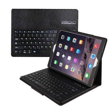 Ba1 Pc (Kitzen Apple 12,9 Zoll Tablet Computer Leder Case Ipad Pro Bluetooth-Tastatur Leder Split ABS-Tastatur , blackGeeignet für Spiele, Büro Comfortable)