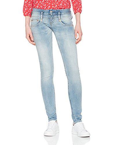 Herrlicher Damen Slim Jeans Pitch, Blau (Cloudy 029), W25/L32