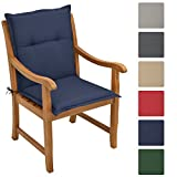 Beautissu Cuscino Loft NL per sedie da giardino con schienale alto - 100x50x6cm - imbottitura extra comfort - blu