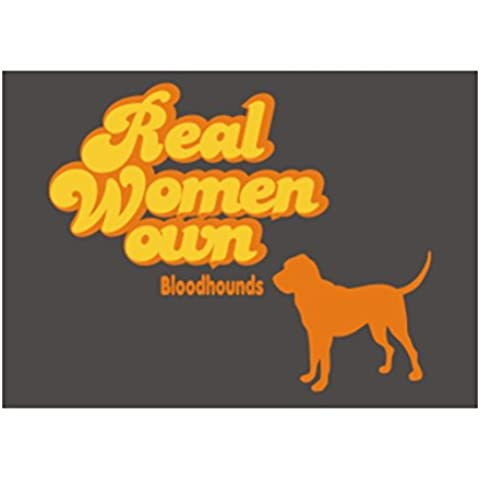 Teeburon Real Woman own Bloodhound Sticker Pacchetto di 4