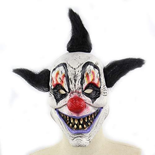 DUBAOBAO Halloween Horror Wizard Clown Maske Haunted Haus Zimmer Escape Dress up Beängstigende Perücken, Halloween-Masken, Halloween-Körperteile Requisiten