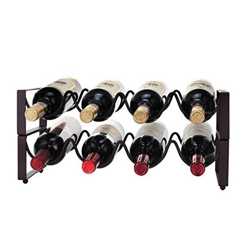 ZZSJC Weinflaschenregal, Weinregal aus Eisen, Weinhalter, stapelbare Weinregale, Weinständer, Weinschrank, Wohnaccessoires - Ziel Aus Weinregal