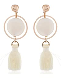 Democratic Gold Alloy Dangle And Drop Earrings For Girls (211101)