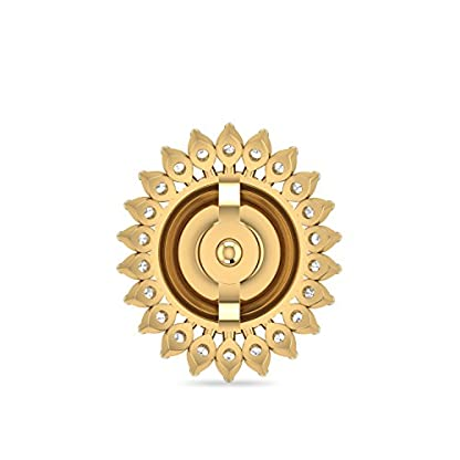 PC Jeweller The Moran 18KT Yellow Gold and Diamond Stud Earrings for Women