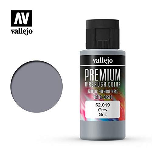 Vallejo PREMIUM RC colori acrilici per modellismo/aerografia 60 ml (62019 Grey)