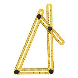 Yeloee Angleizer Template Tool, Angle Measure Ruler, Multi Angleizer Template Ruler For Builders Or Engineer, Yellow + Black