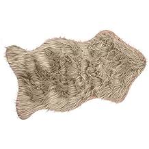 BRAND sseller Camino de alfombra de piel sintética cama Alfombrilla Auflage–imitación de piel de cordero con y Super Soft–50x 90cm–Varios colores, microfibra, naturaleza, 50 x 90 cm