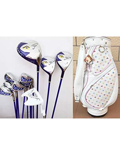 HDPP Golfschläger Damen Golfschläger Golf Komplettset Schläger Driver + Fairway Holz + Eisen + Putter Graphite Golfschaft -