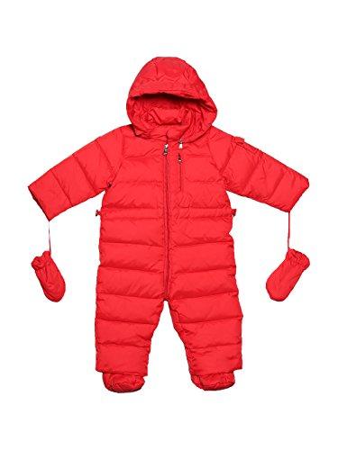 Bodysuit Gepard Druck (Oceankids Baby Säugling Mädchen Jungen Rot Schneeanzug mit Kapuze 18-24)