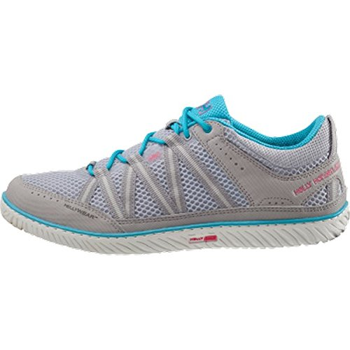 Helly Hansen - W Sailpower 3, Scarpe sportive Donna Multicolore (974 Light Grey / Off White / P)
