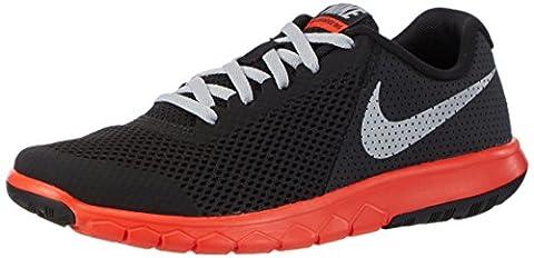 Nike Unisex-Kinder Flex Experience 5 Gs Laufschuhe, Schwarz (Black/Wolf Grey/Max Orange), 38 EU