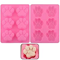 6 Cavity Dog Paw Non-Stick Food Grade Silicone Cake Pan Baking Mold