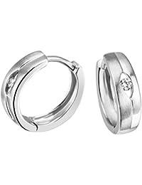 Goldmaid Women's 925 Sterling Silver Zirconia Hoop Earrings