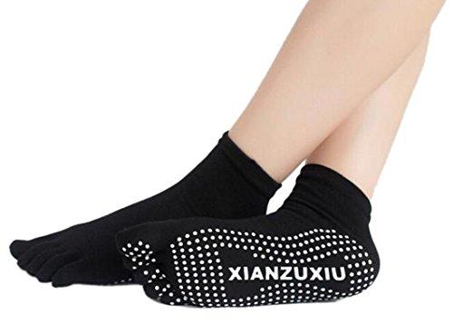 Women-Cotton-sock-Antislip-fitness-colorful-sports-toe-socks