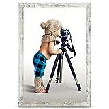 Stallmann Cadre photo en bois MDF Blanc 10 x 15 cm, Bois, vintage, 61 x 91,5 cm (POSTERFORMAT)