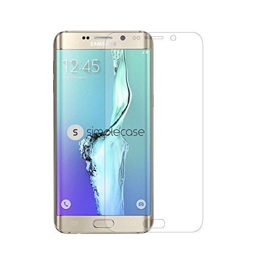 Simplecase Panzerglas passend zu Samsung Galaxy S6 Edge Plus , Premium Bildschirmschutz , Schutz durch Extra Härtegrad 9H , Case Friendly , Echtglas / Verb&glas / Panzerglasfolie , Transparent - 1 Stück