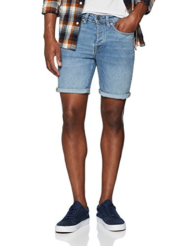 2256e0989ba0a SELECTED HOMME Shnalex 312 Lt St Shorts STS Pantalones Cortos, Azul Light  Blue Denim,