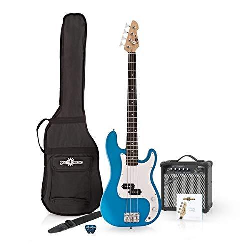 Bajo Electrico LA + Pack De Amplificador Azul
