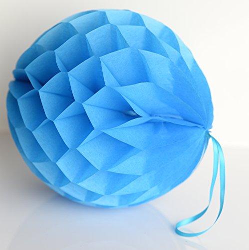 decopompoms Fiesta Blau Gewebe Papier, Kugel, mit Waben 20 cm blau (Blau-waben-gewebe Kugeln)
