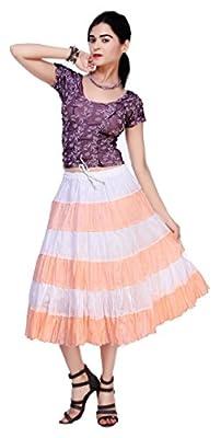 Carrel Cotton Fabric Women Short Skirt(AGSPL-3133-IRY-SK)