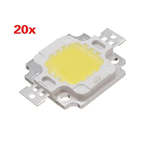 LED Lampe - TOOGOO(R) 20 Stueck 10W LED reinweiss Hohe Leistung 1100 LM LED Lampe SMD Spanlicht Birne DC