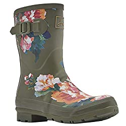 Tom Joule Joules Mollywelly Mittlere Höhe Schweißnähte UK5 Green Lakeside Rose