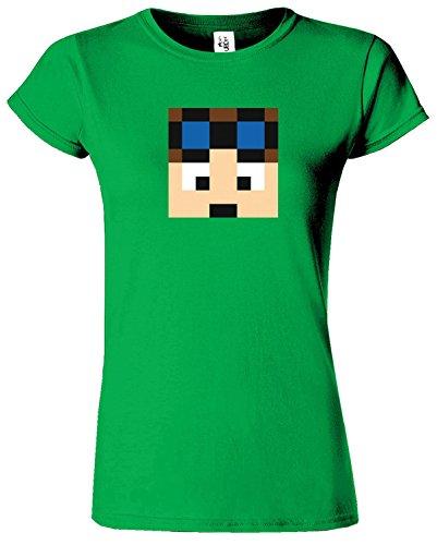 Dan TDM & Stampy Cat T-shirt des femmes drôles Slogan Vert Irlandais