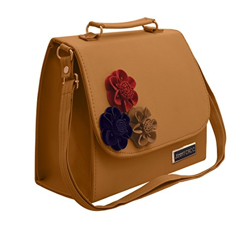 TAP FASHION Women\'s PU Leather Handbag with Adjustable Strap (Yellow, WSB-5116-32-STB)