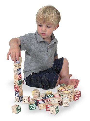 Imagen principal de Melissa & Doug 11900 - ABC123 bloques de madera