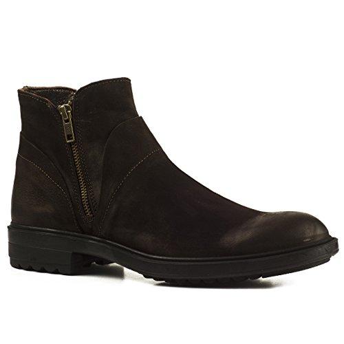 Buffalo Herren Stiefel 7259 Boots Stiefeletten Leder Zipper (40, Braun (Brown))