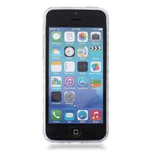 Voguecase® Pour Apple iPhone 5C, Ultra-minces TPU Silicone Shell Housse Coque Étui Case Cover (plume grise)+ Gratuit stylet l'écran aléatoire universelle creuse 08/noir