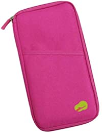 J Go Long Travel Passport Pouch Credit Debit Card Ticket Coins Money Holder Wallet (Multicolor)