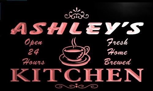 pc1725-r Ashley's Home Kitchen Open Bar Neon Beer Sign Barlicht Neonlicht Lichtwerbung