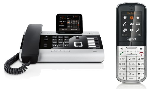 Siemens Gigaset DX600A SET mit 1x SL400H Mobilteil – ISDN, Anrufbeantworter, Bluetooth® ECO DECT