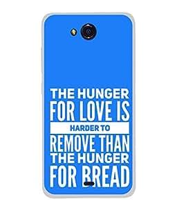 PrintVisa Designer Back Case Cover for Micromax Canvas Play Q355 (Hunger For Bread Hunger for Love)