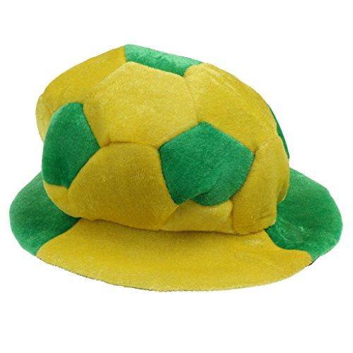 MagiDeal Fan Hut Fußballhut Fußball Mütze Karneval Fasching Cap Party Fanartikel Party Artikel Fanmütze Mütze - Brasilien (Brasilien Karneval Kostüm)