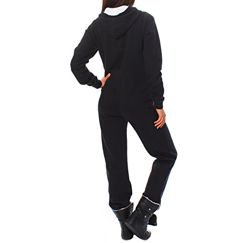 Finchgirl Damen Jumpsuit Jogger Trainingsanzug in Schwarz - 2