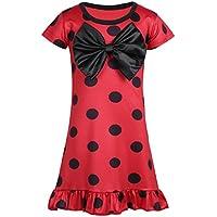 FEESHOW Costume Cosplay 2-8Ans Déguisement Halloween Enfant Combinaison  Coccinelle Rouge A Pois déguisement Princesse e6e1b1ae0cf