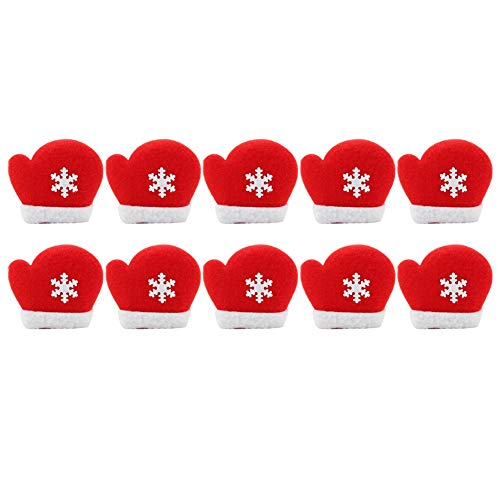 10 teile/paket fühlte sich weihnachten, appliques fühlte ornament kit für weihnachtsdekoration(Christmas mittens snowflakes) -