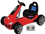 GoKart Elektroauto Kinderauto Kinderfahrzeug Fernbedienun LED USB Rot