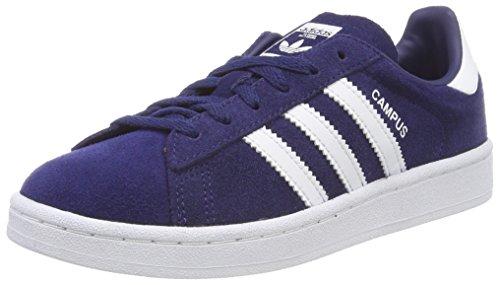 adidas Campus, Scarpe da Ginnastica Basse Unisex-Bambini, Blu (Dark Blue/Footwear White), 34 EU
