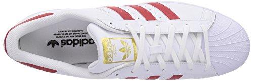 Adidas B27139, Chaussures de basketball Homme Blanc (ftwr White/scarlet/ftwr White)