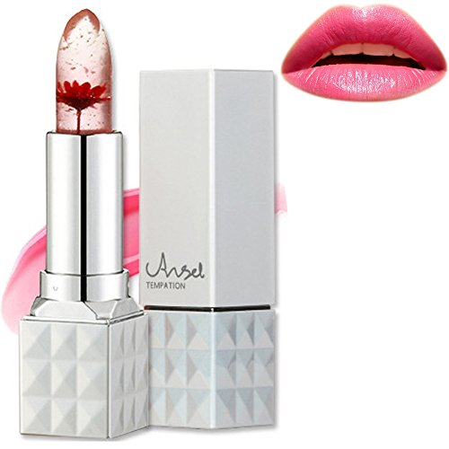 Jelly Lipstick,Richoose Flower Temperature Color Changing Lipstick Waterproof Long Lasting Moisturizing Lip Balm Angel temptation Lip Gloss For Girls